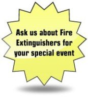 Ask us about Fire Extinguishers for your special event
